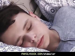twink (jay) FamilyDick- Cute tiny bottom boy woken up by sexy daddy cock bareback (jay)
