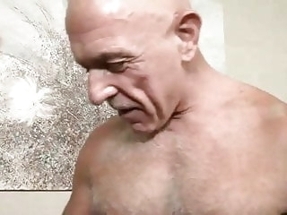 gay porn (gay) Bald silver daddy and eager bottom boy twink (gay)