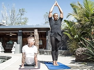 black (gay) XXL Black Cock Gets Attention In A Private Yoga Class big cock (gay)