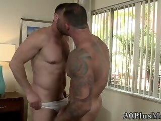 tattoo Ripped hunk barebacks bareback
