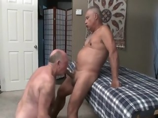 hunk Sexy old men massage