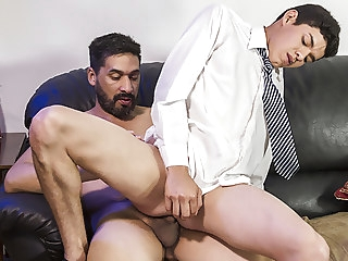 bareback (gay) FamilyDick - Stepdad Punishes His Boy By Plowing His Asshole blowjob (gay)